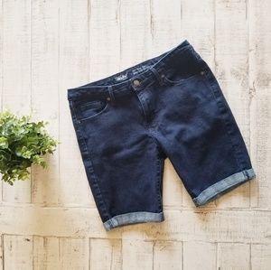Dark Wash Mossimo Mid Rise Bermuda Shorts